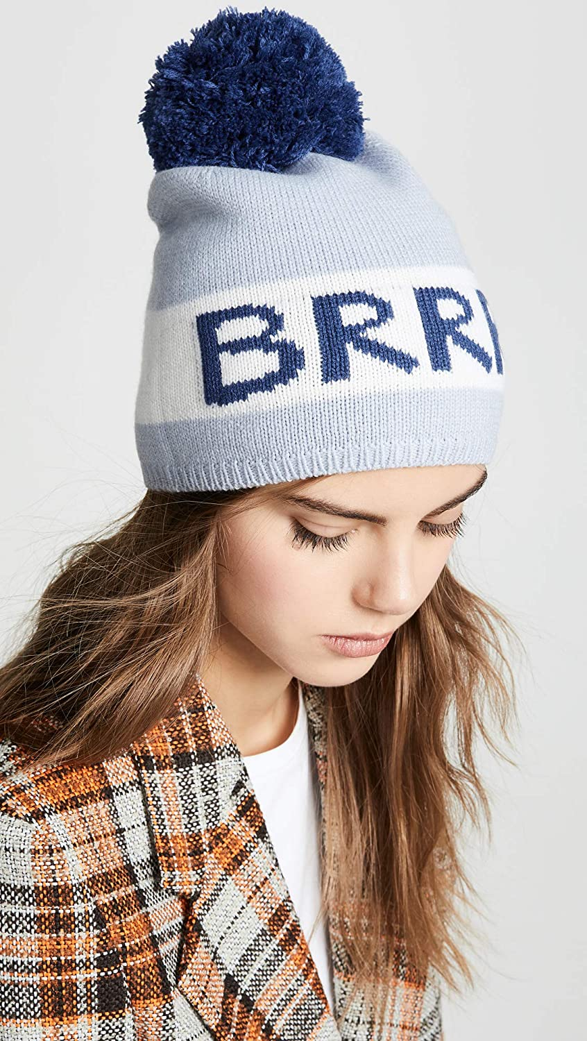 c56c1ca0352c8d ... Kate Spade New York Womens BRRR Beanie Hat Stormy Blue One Size Global  Brands Group-