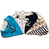 Lovjoy Bandana Baby Bibs - Pack of 5 Designs (Little Sailor)