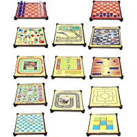 Redstar 13 in 1 Family Fun Magnetic Indoor Board Games, Chess, Checkers, Ludo, Snakes, Ladders & Many More Exciting Multi Colour Best & Latest Gift for Boy Girl Children Kid Baby with Low Cost
