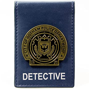 Cartera de DC Comics Batman Gotham City Detective Badge Azul: Amazon.es: Equipaje