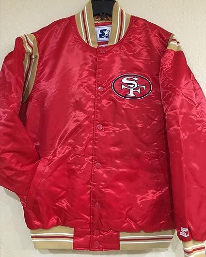 San Francisco 49ers NFL chamarra Starter  quot La Enforcer quot  Premium  satén ... 5949b35c9b7
