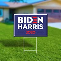 Biden Harris 2020 Yard Sign 12″ x 18″ Large Corrugated Plastic Yard Sign with H-Frame Stake, UV and Weather Resistant