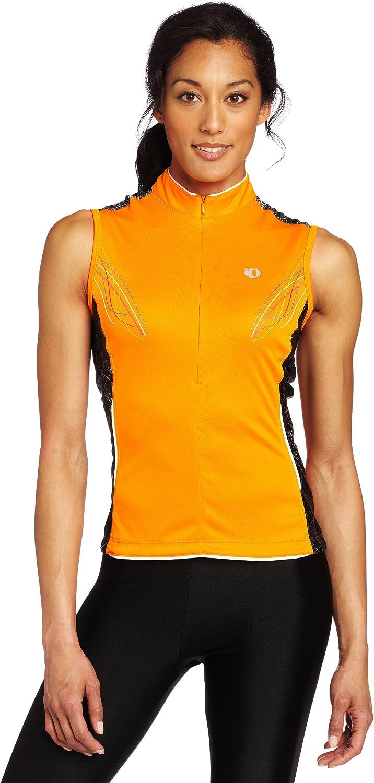 Large Pearl Izumi Womens Select SL Jersey Print Safety Orange Pinstripe