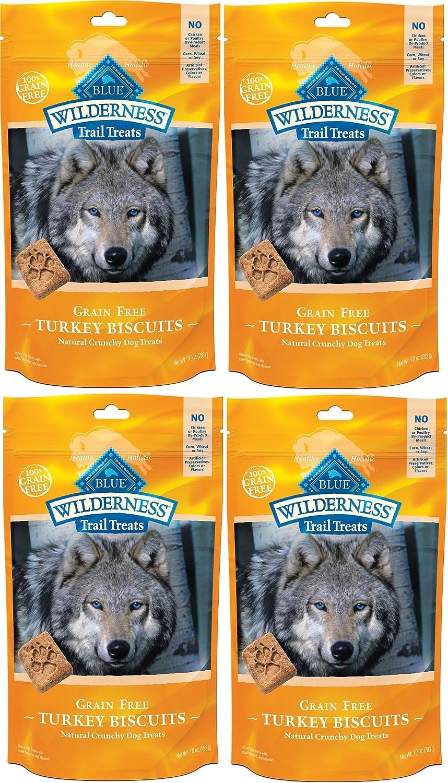 Blue Buffalo Wilderness Trail Treats Grain Free Turkey Biscuits Dog Treats 40 OZ Made in USA