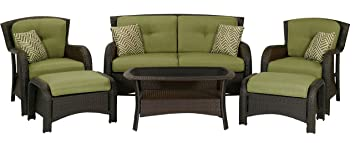 Superior Hanover Strathmere 6 Piece Patio Seating Set