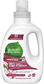 product image for Seventh Generation Concentrated Laundry Detergent, Geranium Blossom & Vanilla, 40 oz (53 Loads)