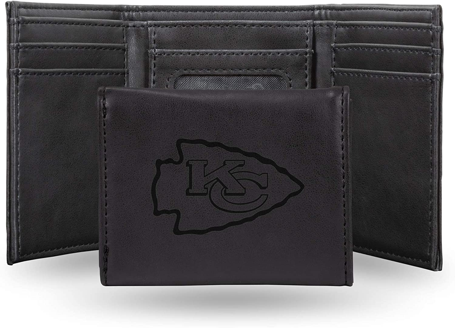 Kansas City Chiefs NFL Rico Industries  Laser Engraved Trifold Wallet