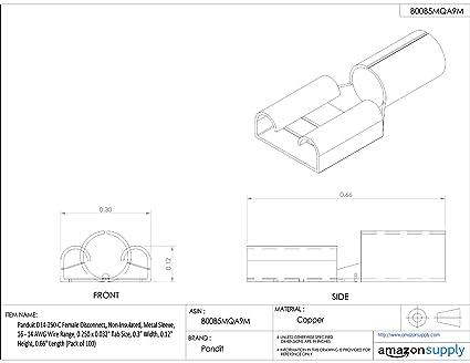 Amazon Com Panduit D10 250 L Female Disconnect Non Insulated 12