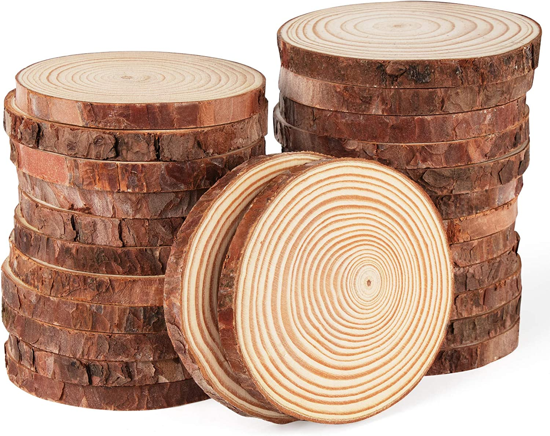 ilauke Wood Slices 28 Pcs 3.5