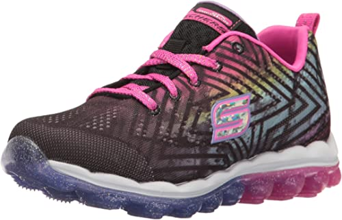 skechers running shoes for girls black