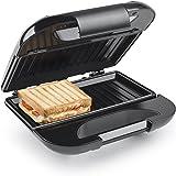 Princess 127002 Sandwichtoaster/ Sandwichmaker mit durchlaufenden und antihaftbeschichteten Heizplatten - Edelstahlgehäuse mit Verschluß