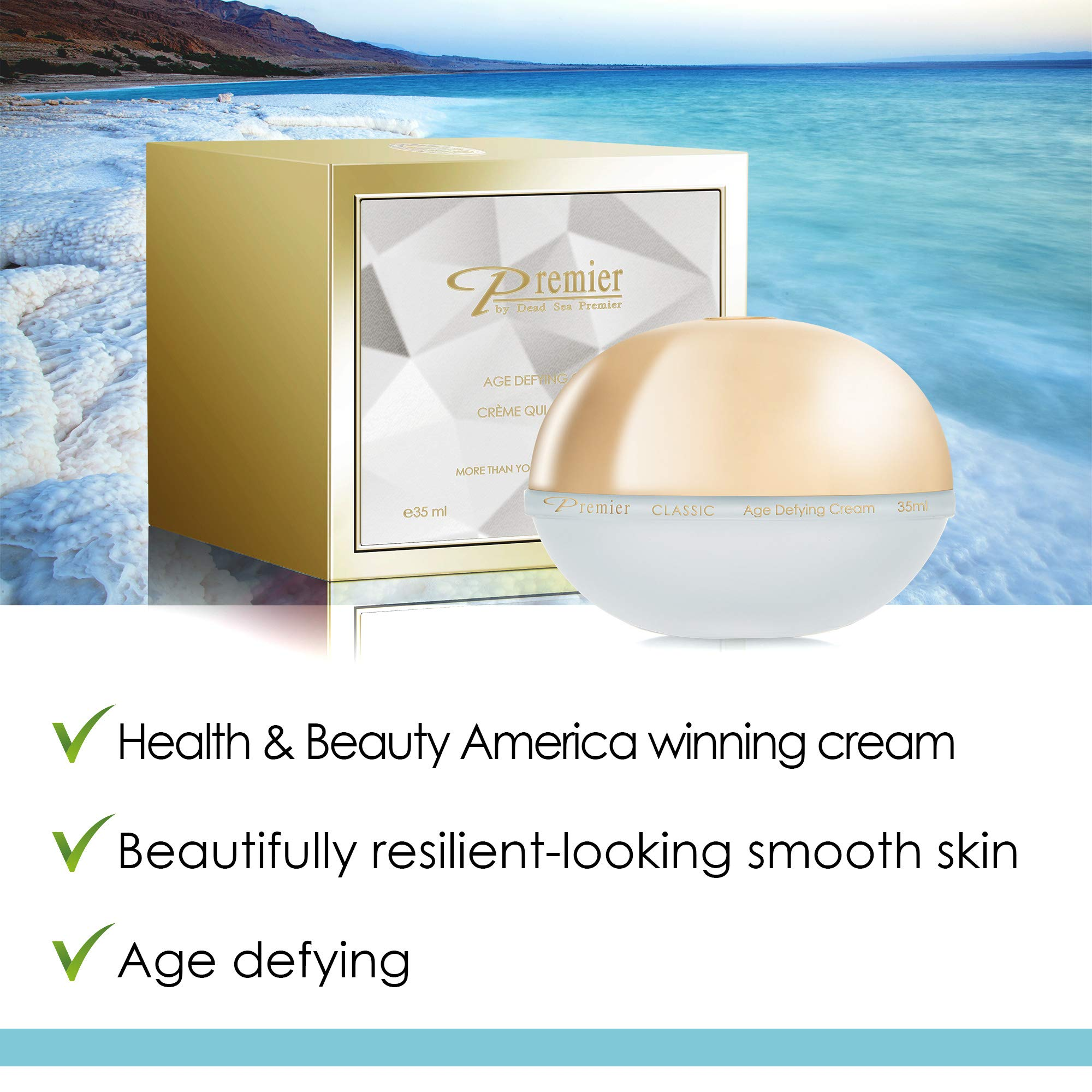 Premier Dead Sea Classic Age Defying Anti Age Cream, Reduce wrinkles by Premier by Dead Sea Premier (Image #2)
