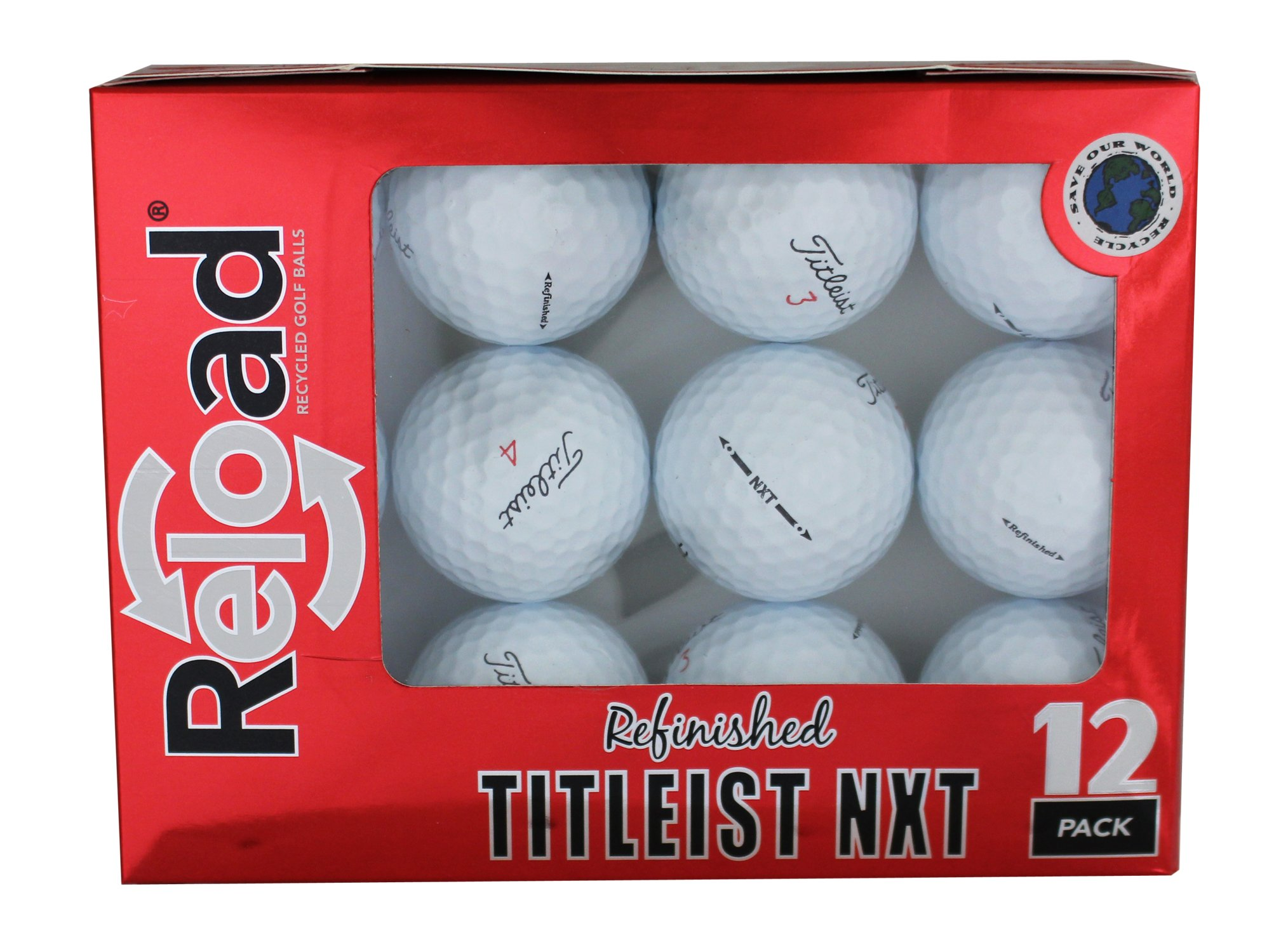 Titleist Reload Recycled Golf Balls NXT Refurbished Golf Balls (12 Pack)