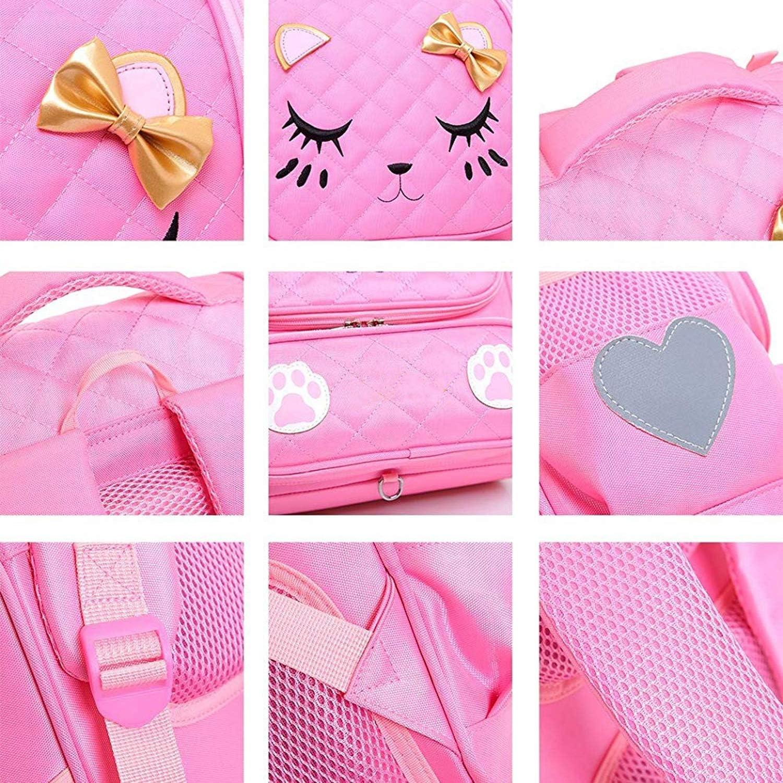 XFRJYKJ-Cartoon Backpack Childrens Cute Student Bag Shoulder Reduction Shoulder Bag Color : Pink, Size : M