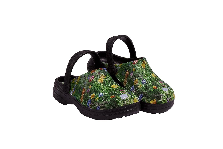 キッズ防水プレミアムGarden clog-meadowデザイン B01N0BJTT8   12 M US Little Kid
