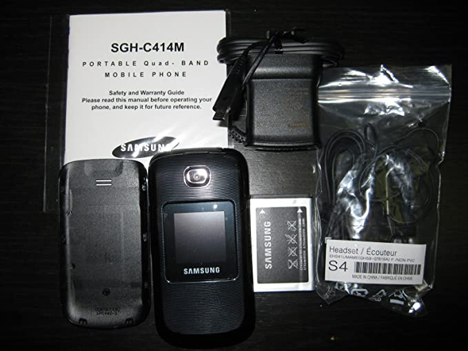 amazon com unlocked samsung sgh c414 c414m quad band flip cell rh amazon com Samsung Galaxy Trend Samsung Flip Phone