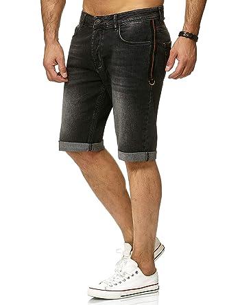 Red Bridge Denim Jeans Shorts de Hombres Básico con Rayas Moda Cortos Pantalones