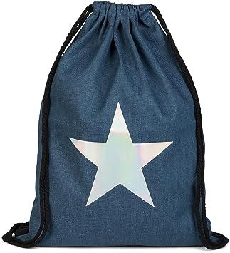 styleBREAKER bolsa de deporte vaquera con estrella metálica, estilo de calle, mochila, bolsa de deporte, bolso, unisex 02012174, color:Azul oscuro: ...