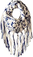 San Diego Hat Company Women's Cochet Knit Infinity Scarf with Fringe