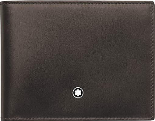 Mont Blanc Meisterstuck Genuine Leather Brown BiFold Wallet For Men/'s Free ship