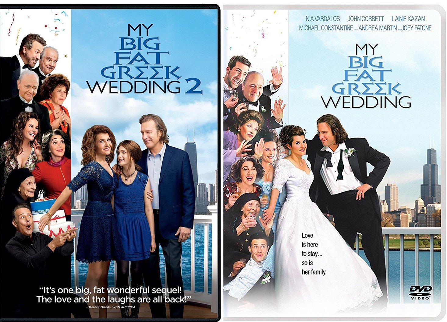 Amazon Com The Portokalos Family Double Feature My Big Fat Greek Wedding Part 2 Greekquel Double Feature Pack Nia Vardalos Movies Tv