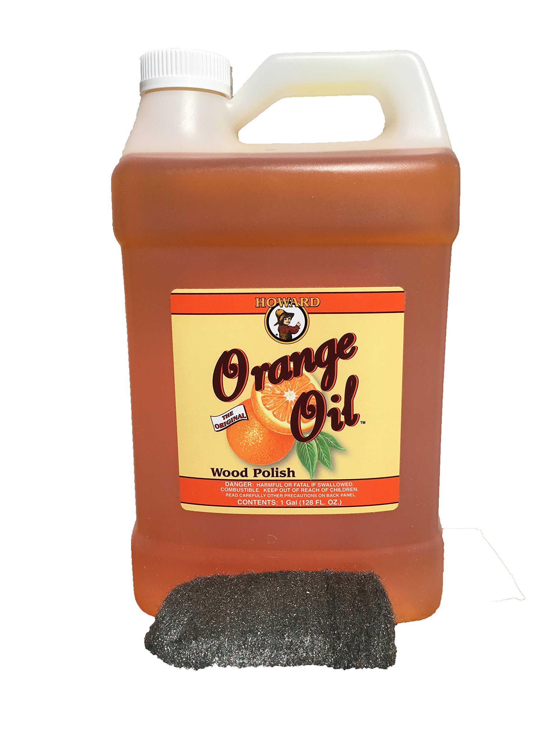 Howard Orange Oil 128 oz Gallon, Clean Kitchen Cabinets, Polish and Shine Wood Furniture, Orange Wood Cleaner