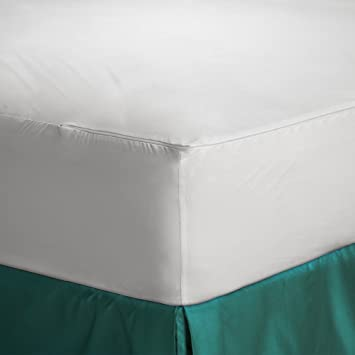 Trance Home Linen Cotton Zippered Encased Waterproof Mattress Protector - Small (Queen Size, 72 X 60-inches)