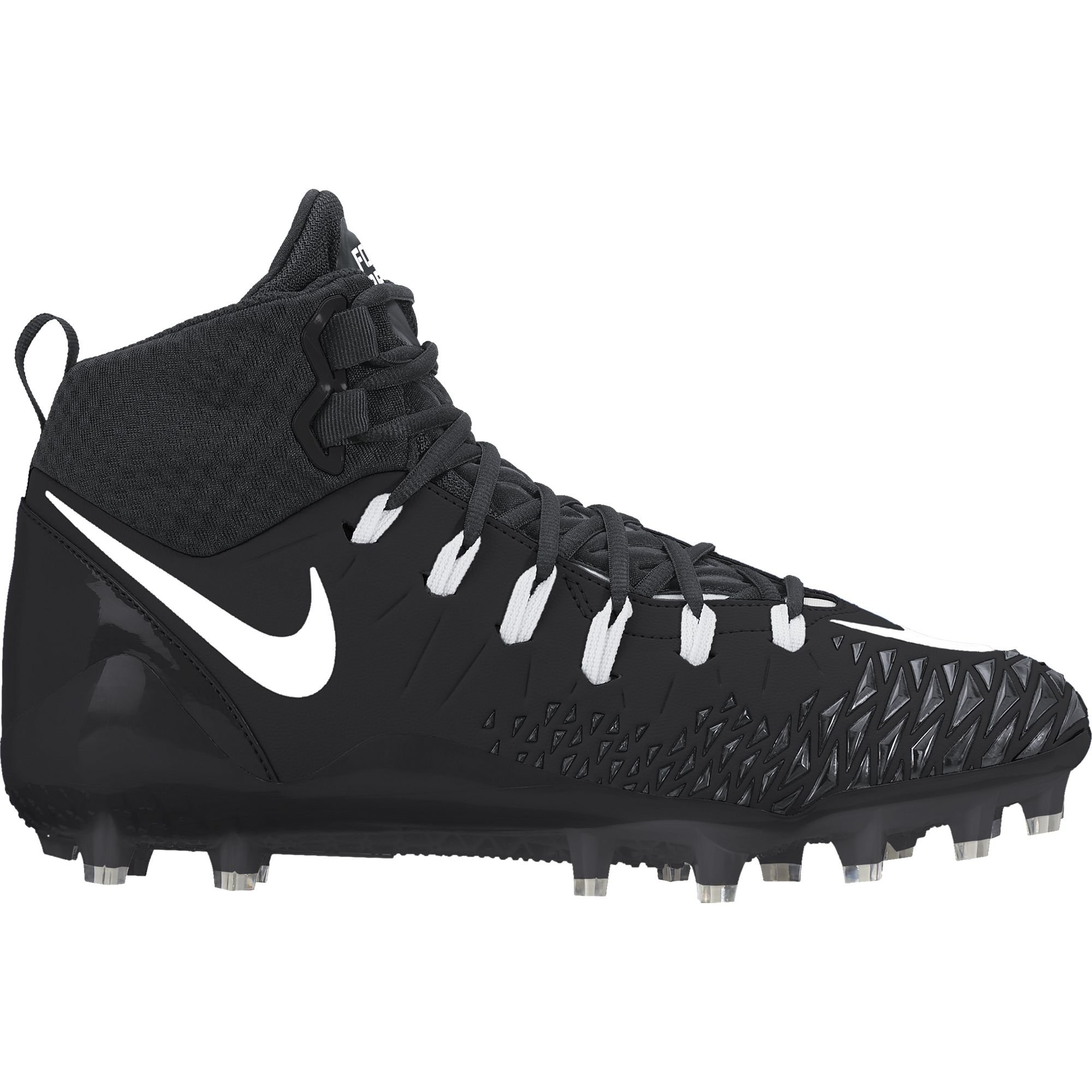 NIKE Men's Force Savage Pro Football Cleat Black/White/Anthracite Size 11.5 M US
