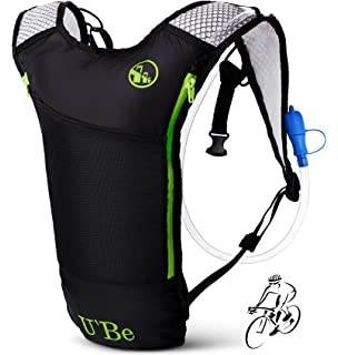 U`Be Hydration Pack Water Backpack - Kids Women Men Camelback - Hiking Biking Running