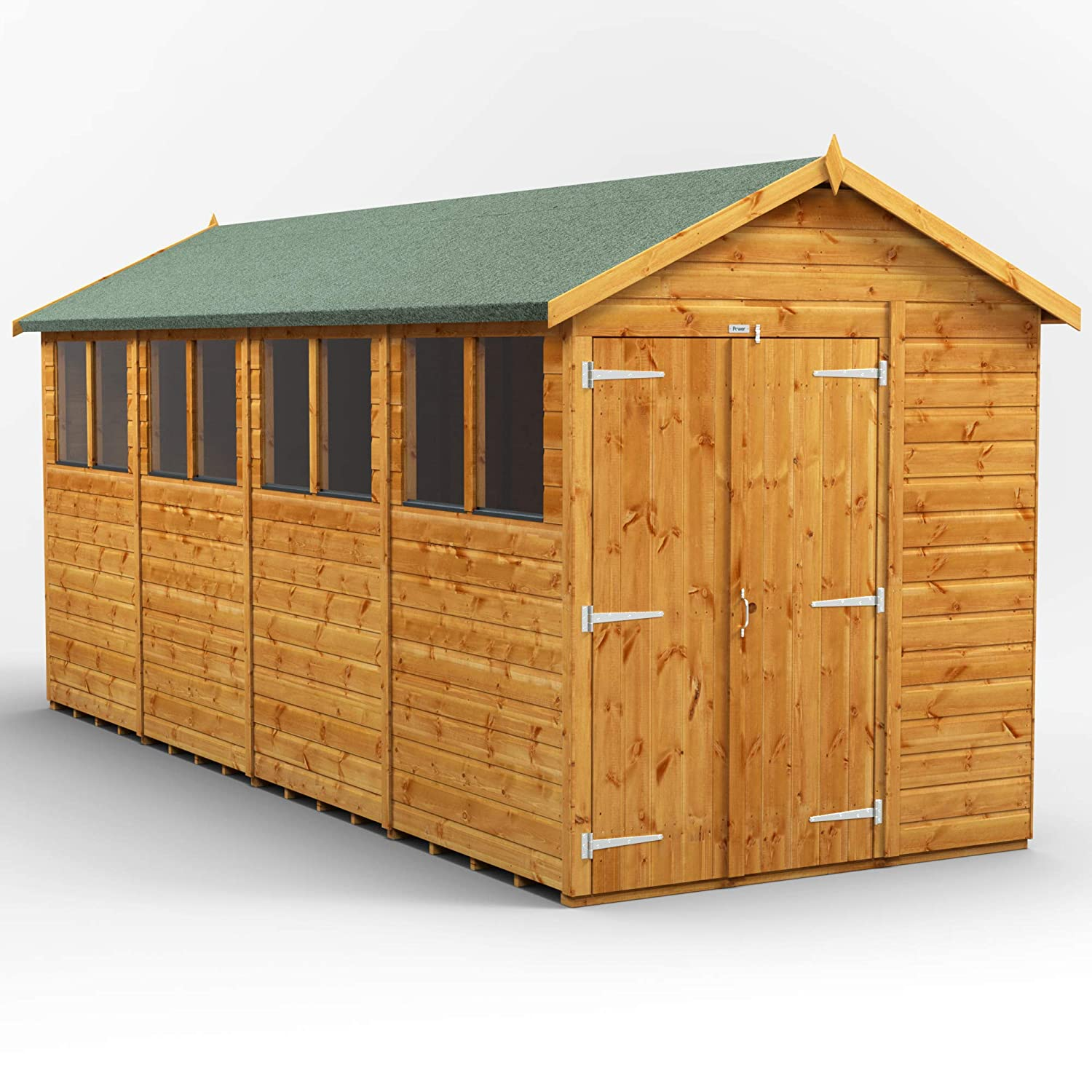 Power 16x6 Double Door Apex Wooden Garden Shed Size 16 X 6 Super Fast 2 3 Day Delivery Or Pick Your Own Day