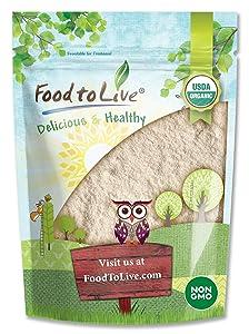 Organic White Quinoa Flour, 1 Pound - Non-GMO, Fine Ground from Whole Grains, Vegan Meal, Kosher, Bulk Powder, Good Source of Protein, Dietary Fiber, Manganese, and Copper.