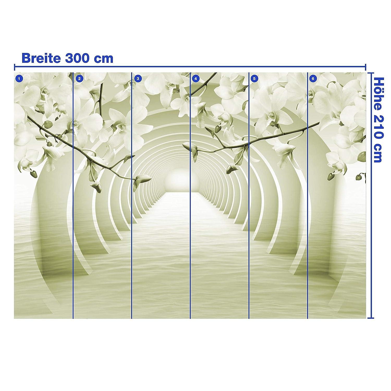 Wandmotiv24 Fototapete Tunnel Rosa Blaumen wasser 3D Effekt Effekt Effekt M3935 L 300 x 210 cm - 6 Teile Wandbild - Motivtapete B07NF8D8RV Wandtattoos & Wandbilder 696f7e