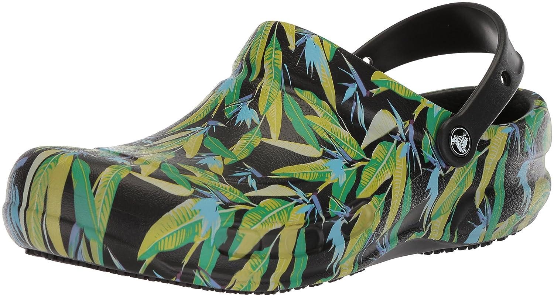 Crocs Bistro Graphic Clog, Zuecos Unisex Adulto 41/42 EU|Negro (Black/Parrot Green)