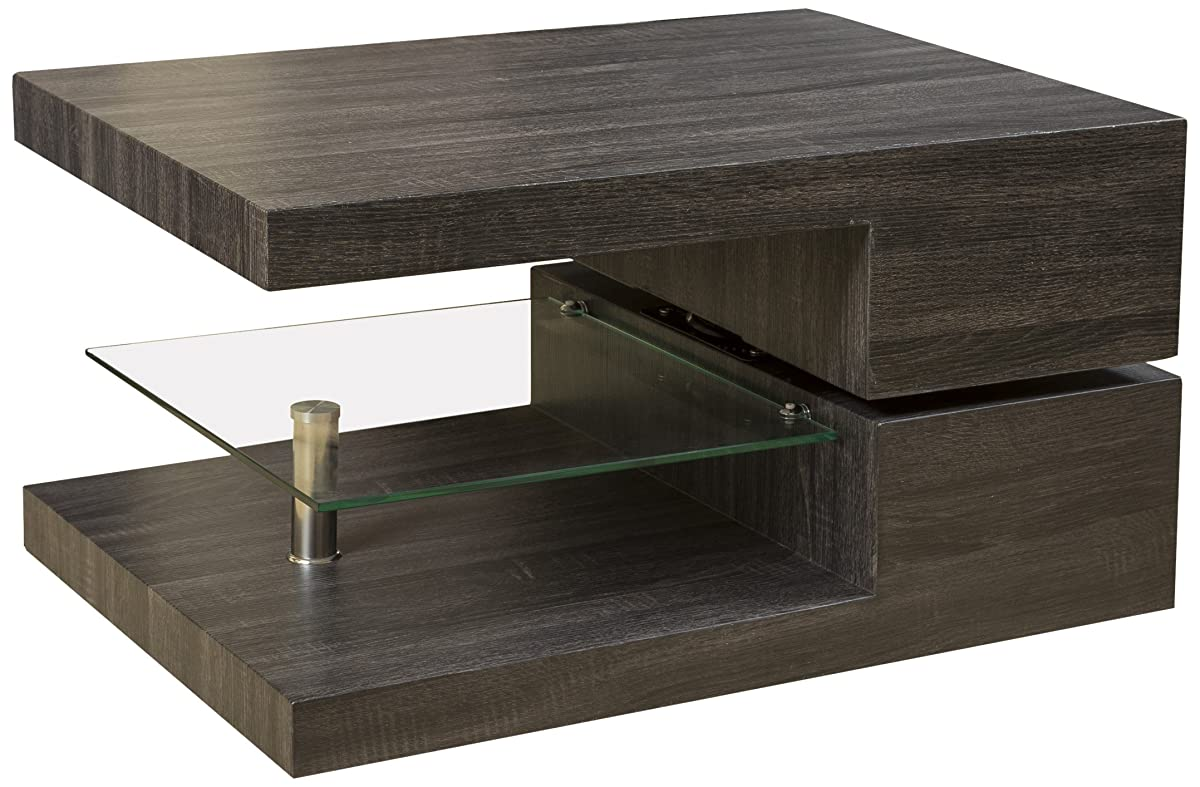 Great Deal Furniture Bushwick Rectangular Rotating Wood Coffee Table