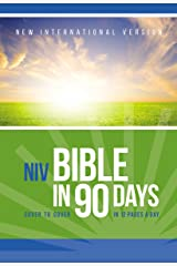NIV, Bible in 90 Days, eBook: Cover to Cover in 12 Pages a Day Kindle Edition