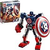 76168 LEGO® Marvel Avengers Classic Armadura Robô do Capitão America; Kit de Construção (121 peças)