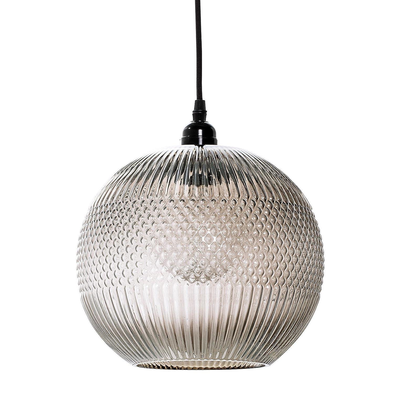 Bloomingville Pendant Lamp, Braun, Glass Ø24xH29 cm