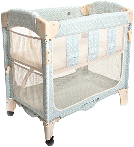 Arm's Reach Concepts Mini Arc Co-Sleeper Bassinet, Turquoise Geo