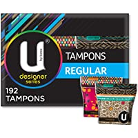 U By Kotex Designer Tampons, Regular (Pack of 192)