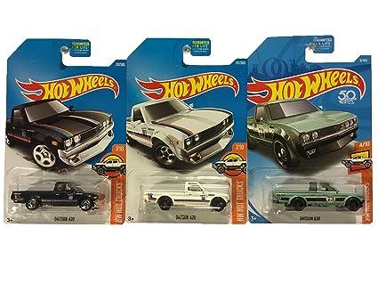 Amazon.com: Hot Wheels Datsun 620 - Pack de 3 unidades: Toys ...