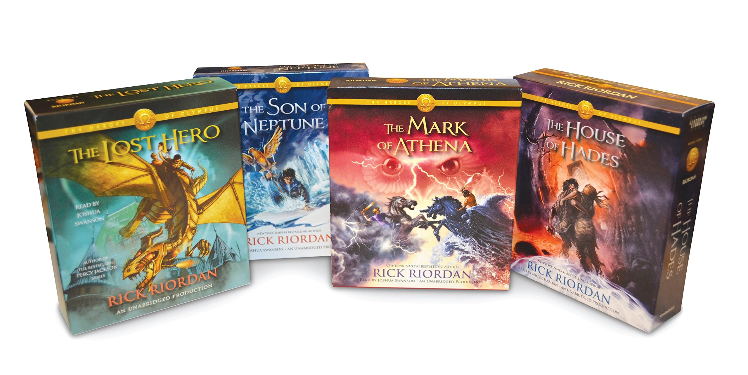 Read Online The Heroes of Olympus Books 1-4 CD Audiobook Bundle: Book One: The Lost Hero; Book Two: The Son of Neptune; Book Three: The Mark of Athena; Book Four: The House of Hades ebook