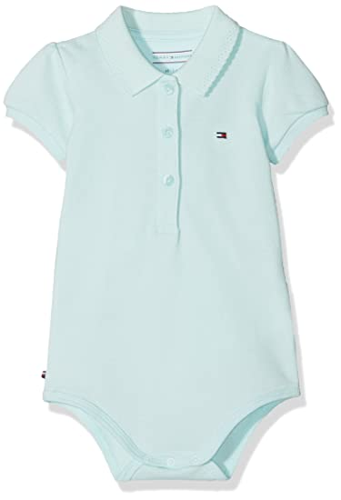 b9341a999 Tommy Hilfiger Baby Delightful Polo S/s Body Giftbox Footies, Blue (ICY Morn