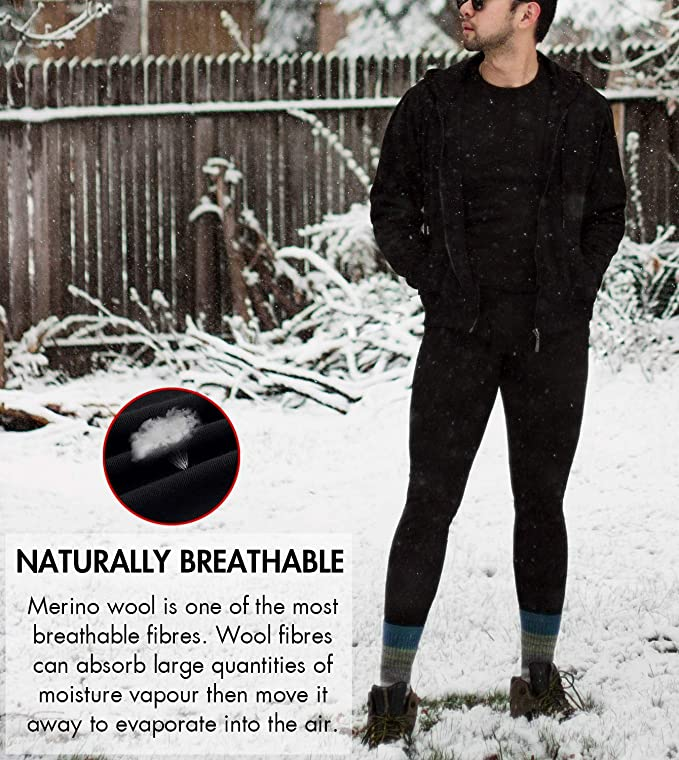 Celavi Long Johns-Basic Solid Wool Pantalones para Beb/és