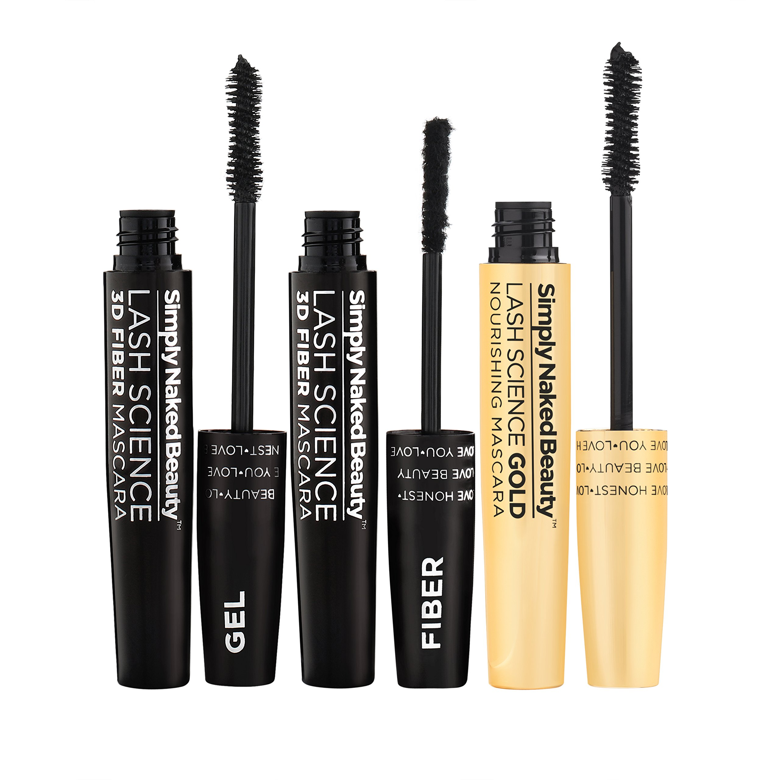 3D Fiber Lash Mascara with Eyelash Enhancing Serum by Simply Naked Beauty. Infused with Organic Castor Oil to nourish lashes. Organic & hypoallergenic ingredients. Waterproof, smudge proof & last all by Simply Naked Beauty (Image #8)