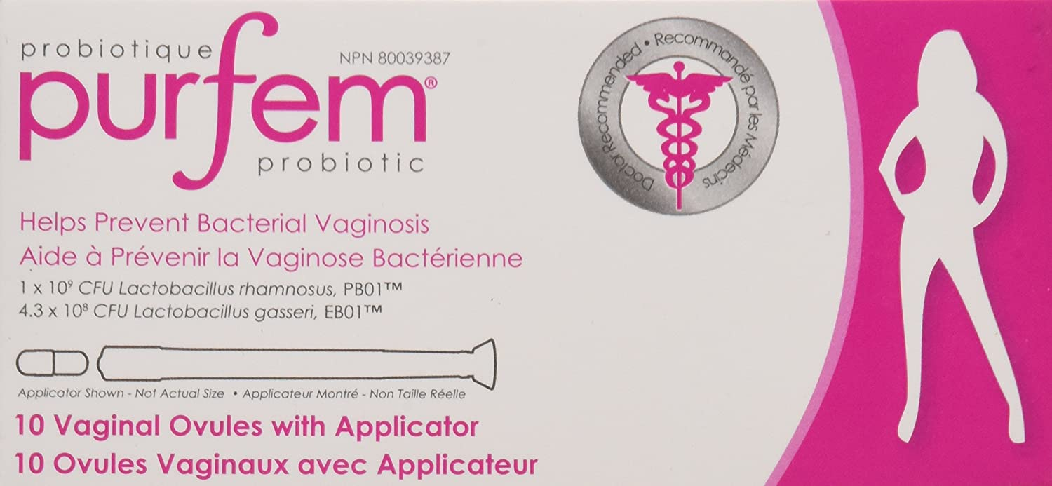 Amazon.com: PurFem Probiotic WITH APPLICATOR 10 Vaginal Suppositories ( Vaginal Capsules): Health & Personal Care