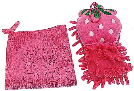 Toalla Mantel niños de microfibra Talla única, niño rosa 2 PZ