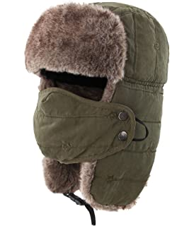 e956f0780f7 Connectyle Warm Trapper Hat Windproof Winter Russian Hats with Mask Ushanka  Hat