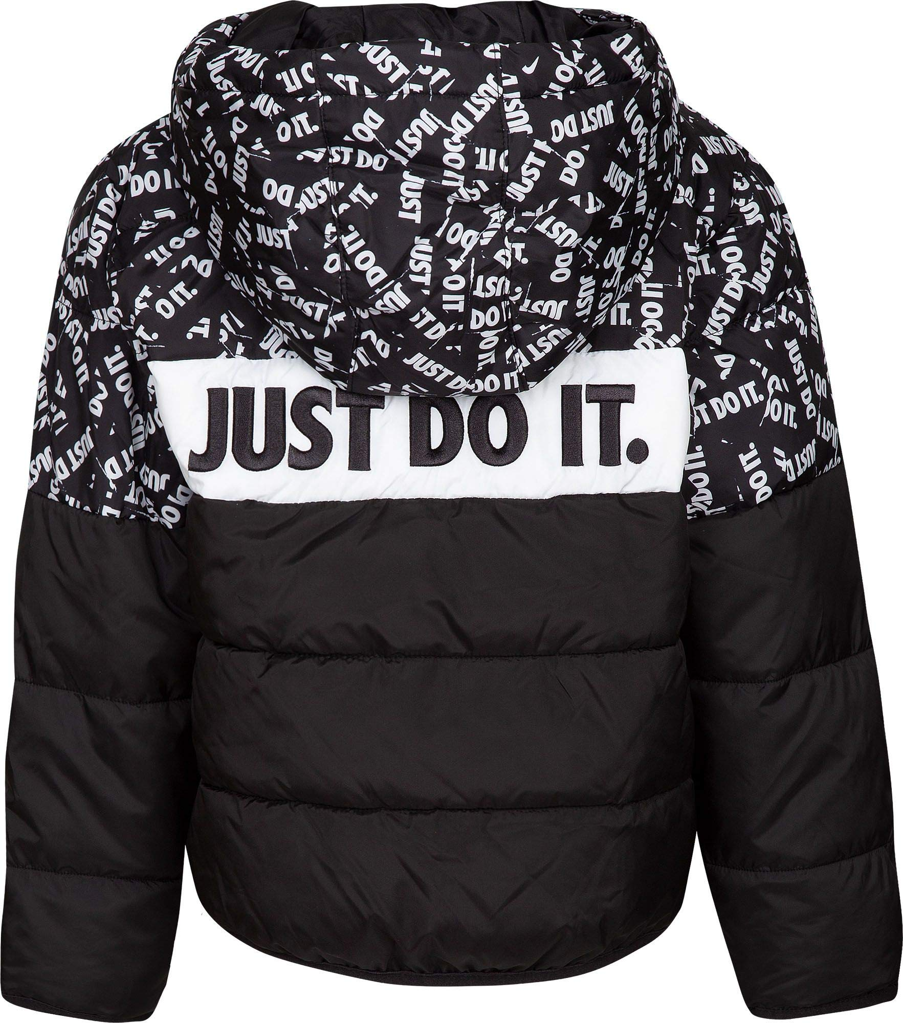 Nike Boy's Polyfill Blocked Insulated Puffer Jacket (Black, 6) by Nike (Image #2)