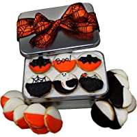 Gourmet Halloween Cookie Gift Basket Decorated Colored Black & White Cookies Halloween Designed Spooky Trick Or Treat…