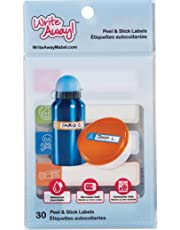"""Mabel's Labels Write Away Peel & Stick 30 Pack, Peel & Stick Labels, 2.5"""" x 0.6"""", Self Laminating, Dishwasher and Microwaver safe, UV Resistant, waterproof, Primary Colours (0012)"""